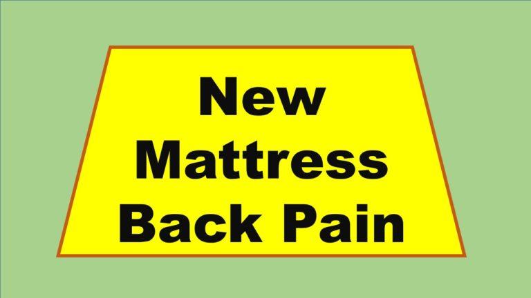new mattress back pain