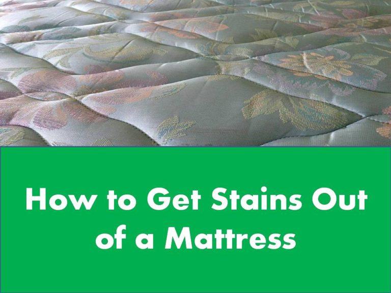 mattress stain clean