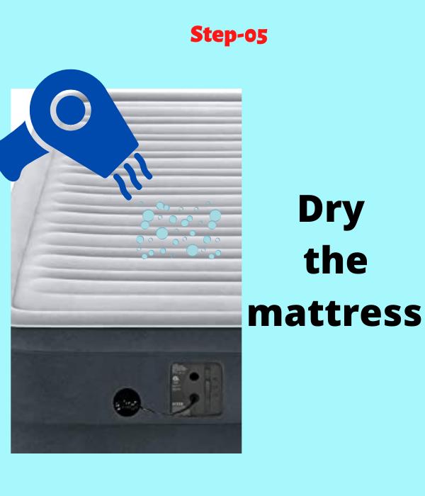 air mattress hole finding process
