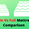 twin vs full mattress