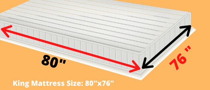 king mattress dimensions