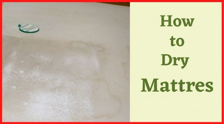how to dry mattress